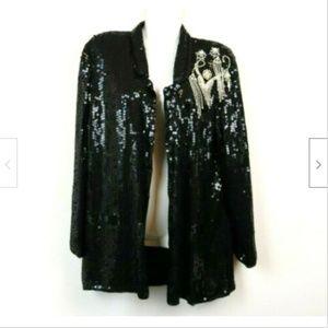 Stenay Womens Cardigan Kimono 100% Silk Beaded